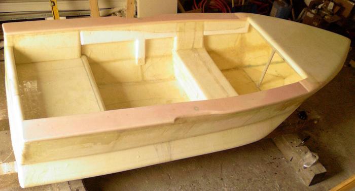 Лодка из пенопласта и стеклоткани своими руками 866